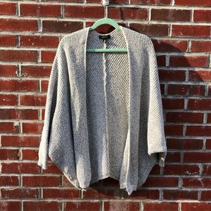 Gray and black speckled oversized cardigan
